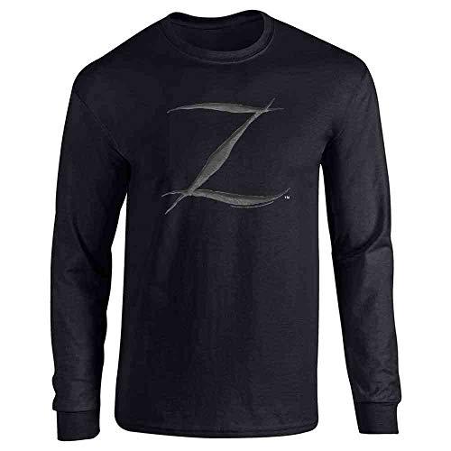 Pop Threads Zorro Big Cut Z Halloween Costume Black L Long Sleeve T-Shirt