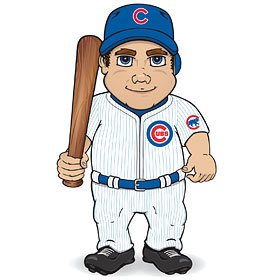 """MLB 14"""" Dancing Musical Player MLB Team: Chicago Cubs"""