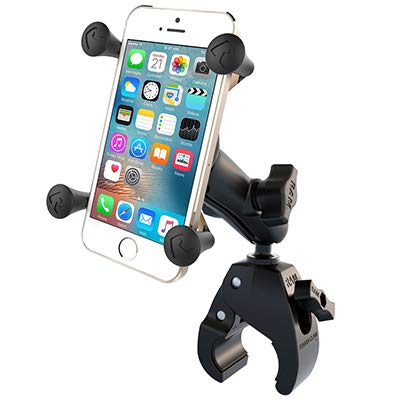 RAM X-Grip Phone Mount with RAM Tough-Claw Small Clamp Base