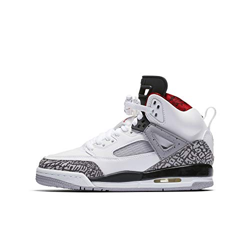 Nike Air Jordan Spizike Boys (Grade School) Basketball Shoes, White/Varsity Red/Cement Grey/Black/Dark Grey, - Cement White Red Varsity