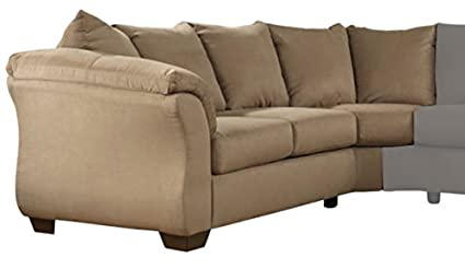 Cool Ashley Furniture Signature Design Darcy Contemporary Left Arm Facing Loveseat Sectional Component Only Mocha Home Remodeling Inspirations Basidirectenergyitoicom