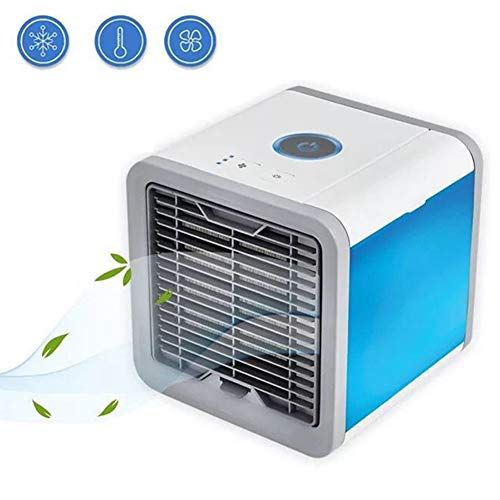 Heartbeat Mini Air Cooler Personal Space Cooling Fans, Device Home Office Desk Air Conditioner The Quick Easy Way to Cool Any ()