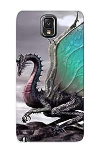 Hot Design Premium SiBVOit5992nCEVX Tpu Case Cover Galaxy Note 3 Protection Case(cool Dragon)