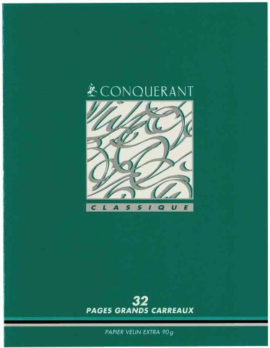 PAPETERIES HAMELIN Lot de 10 Cahiers 90g carte vernie Apprentissage de l'écriture 17x22 cm 32 pages SEYES 3 mm
