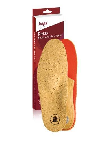 Schuheinlagen, Einlegesohlen Leder, Orthopädische Einlagen, Relax Shock Absorber Pecari - No. 30111 Einzelgroesse 40