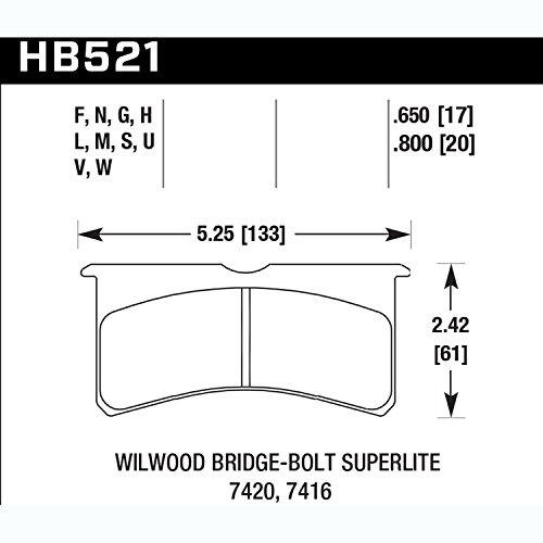 Hawk Performance HB521M.800 Auto Part by Hawk (Image #1)