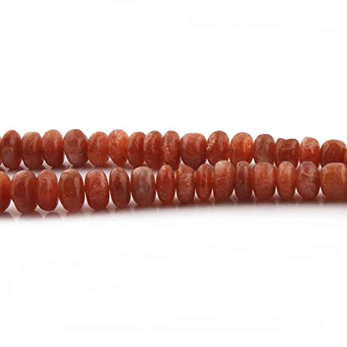 GemAbyss Beads Gemstone Big Halloween Sale Excellent Quality 1 Strand Sunstone Smooth Rondelles- Sunstone Roundelles Beads 6mm-13mm 18 Inches SB1908 Code-MVG-35198