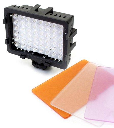 カメラ用 ledライト ビデオカメラ 一眼レフ 撮影 照明 撮影用ライト 暗所撮影 LED48灯カメラ用ライト