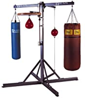 Muay Thai Bags & Boxing Bags - Balazs Universal Boxing Stand - 4-Station Heavy Bag, Speed Bag and Double-end Bag Stand