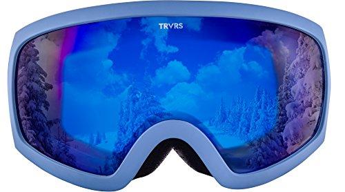 Traverse Varia Ski, Snowboard, and Snowmobile Goggles, Haze with Cobalt Lens