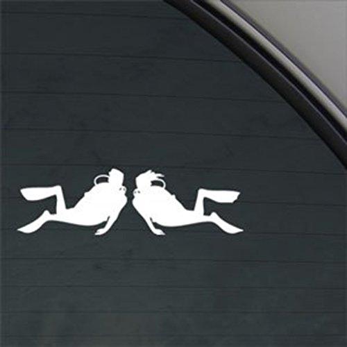 Scuba Diver Dive Couple Decal Diving Window Sticker   Car, Truck, Wall, Laptop, Computer, Phone   KCD222