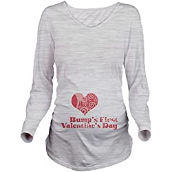 Bumps First Valentines Day Long Sleeve Maternity Shirt