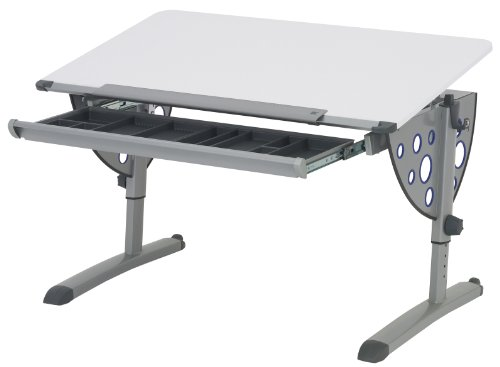 Kettler Logo Fun Desk, White/Silver by Kettler