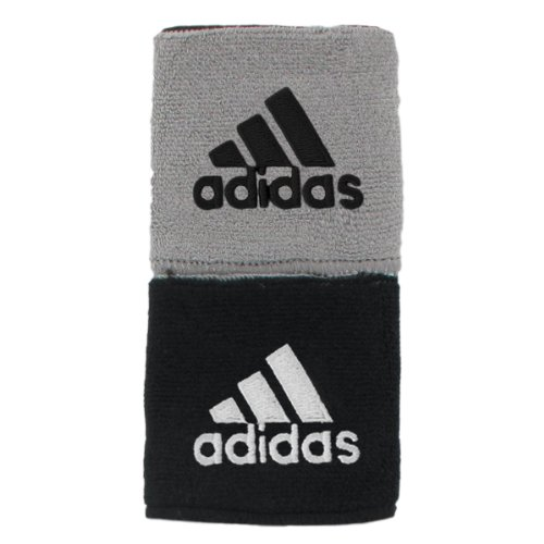 (adidas Interval Reversible Wristband, Black/White / Aluminum 2/Black, One Size Fits All)