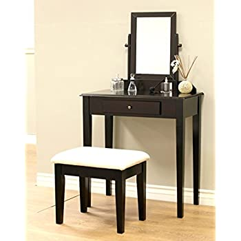 Amazon Com Frenchi Furniture Wood 3 Pc Vanity Set In