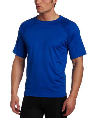 Kanu Surf Men's Short Sleeve UPF 50+ Swim Shirt (Regular & Extended Sizes), Royal, Large