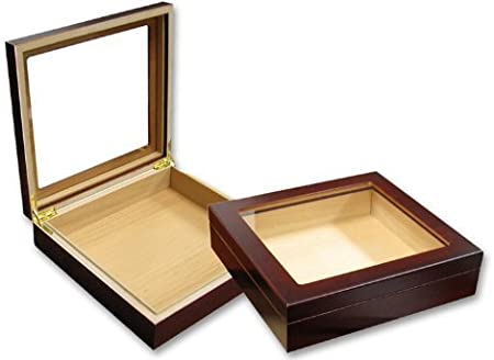perfectSmoke - Humidor de Puros para Principiantes (Tapa de Cristal para 20 Puros, Incluye Sistema de humidificación): Amazon.es: Hogar