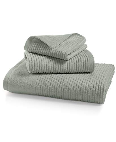 Martha Stewart Collection Quick Dry Reversible Hand Towel Platinum Gray