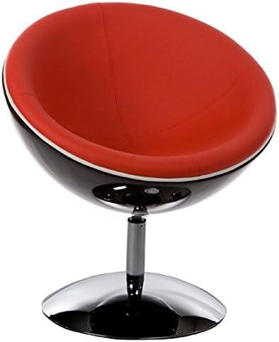 Alterego Fauteuil Design Boule Sphera Pivotant 360 Noir