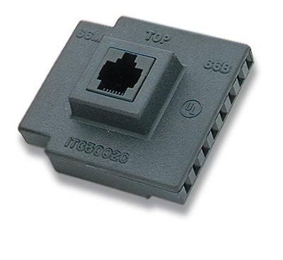 66 Block Adapter, Four-Pair 66 To Rj45 Jack- Ind Tech Itc-3002C (66 Block Adapter)