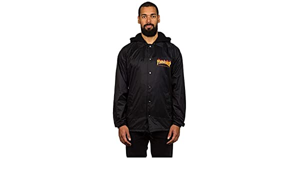 354f14e09ac1 Thrasher Flame Logo Fleece Hood Coach Jacket (X-Large)  Amazon.ca  Clothing    Accessories