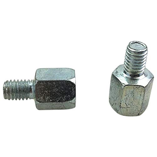 WOVELOT 1 pair motorcycle rearview mirror reverse right threaded silver adapter conversion bolt inside 10mm 8mm Reverse