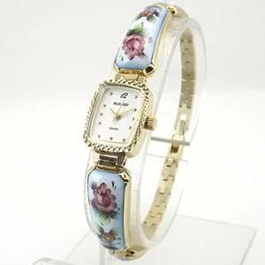 MARINOFF Women's Handpainted Limited Edition Russian Artisan Watch. Model: MAR-BL-250