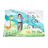 Ghome Baby Monthly Milestone Blanket 1-2 Years Old Babies Props Shoots Backdrop Made Fleece, Gift...