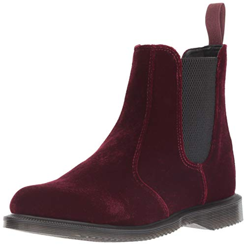 Dr. Martens Women's Flora Fashion Boot, Cherry red, 6 M UK (8 US) (Flora Ankle Boot)