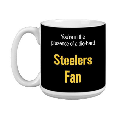 Tree-Free Greetings XM28132 Steelers Football Fan Artful Jumbo Mug, 20-Ounce -