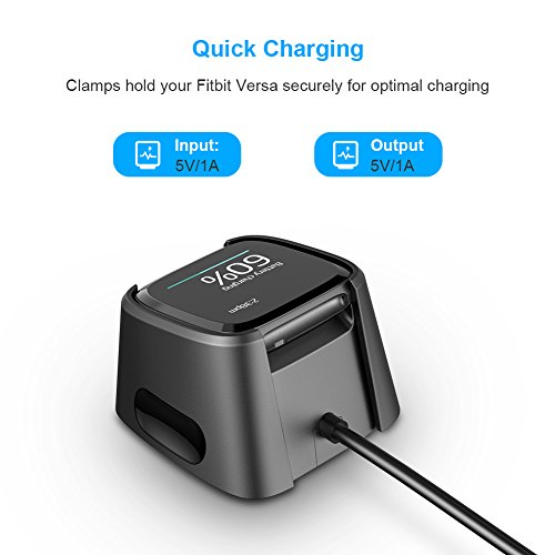 for Fitbit Versa Charger,Hagibis Replacement USB Charging Cable Dock for New Fitbit Versa Smartwatch (2 Pack) by Hagibis (Image #1)