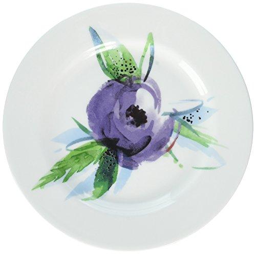 Lenox Passion Bloom Tidbit Plates (Set of 4), White by Lenox