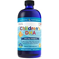Nordic Naturals Children's DHA, Strawberry - 16 oz - 530 mg Omega-3 with EPA & DHA - Brain Development & Function - Non-GMO - 192 Servings