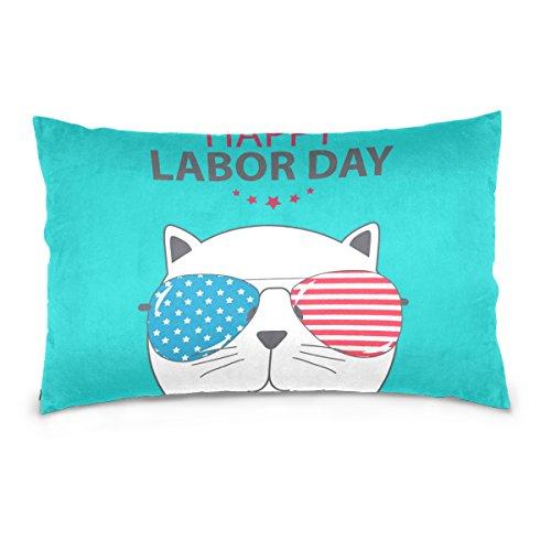 Top Carpenter Happy Labor Day Poster Velvet Oblong Lumbar Pl
