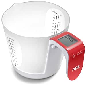 ADE Franca, Electronic Kitchen Scale, Red