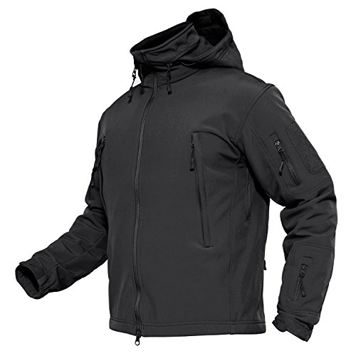 Jacket Men Windproof Waterproof Jackets Camping Hunting Jacket Combat Jacket Men Black ()
