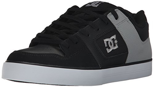 DC Men's Pure, Black/Black/Grey, 12 D US