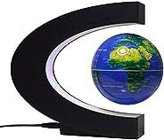 Moniel Globo flutuante de levitação magnética de 3 polegadas com base em forma de C e luzes LED para o ensino