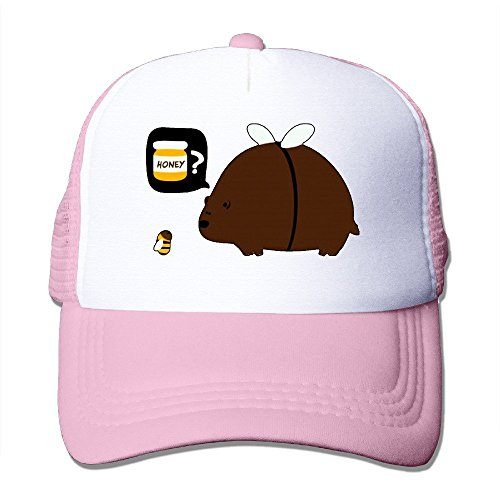 Price comparison product image Texhood Cute Bear Bee Honey Cool Snapback One Size Pink