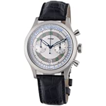 Eterna Watches Men's 'Kontiki Heritage Chrono' Self Winding Stainless Steel and Leather Dress Watch, Color:Black (Model: 1942.41.64.1177)