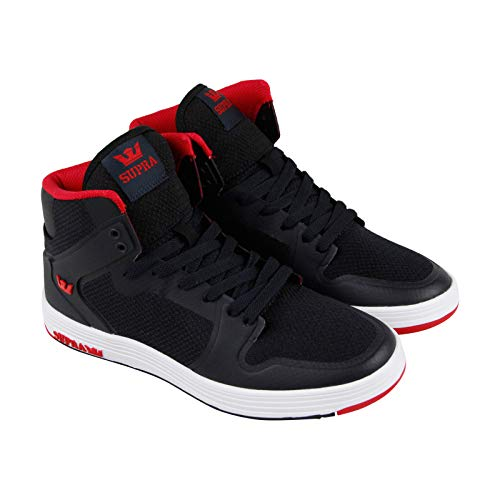 (Supra Mens Vaider 2.0 Shoes Size 8 Black - Red)
