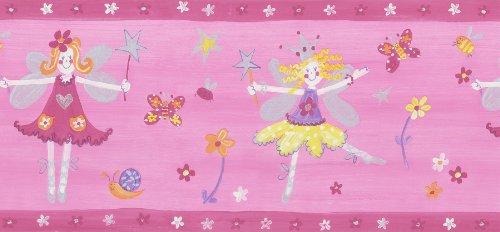 Brewster 143B03946 Kidding Around Fairy Princess Wall Border, 10.25-Inch by 180-Inch