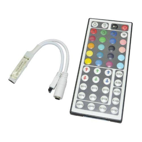 Tzou 44 Keys Mini Ir Remote Controller for 3528 & 5050 RGB LED Strip Lights