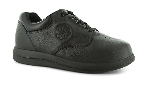 P W Minor Leisure Women's Therapeutic Casual Extra Depth Shoe: Black 7.5 Wide (D) Lace ()
