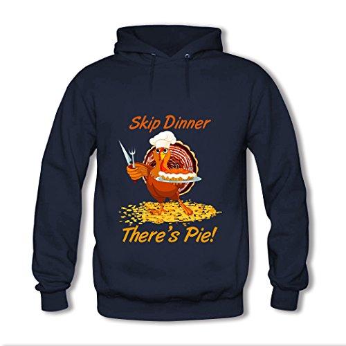 Lxmn Skip Dinner There's Pie,Thanksgiving Day Hoodies Sweatshirts Hooded Pullover Hoody Sweatshirt Hoodie