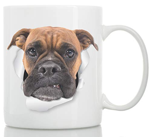 Grumpy Boxer Dog Mug - Boxer Dog Ceramic Coffee Mug - Perfect Boxer Dog Gifts - Funny Cute Boxer Dog Coffee Mug for Dog Lovers and Owners (11oz)
