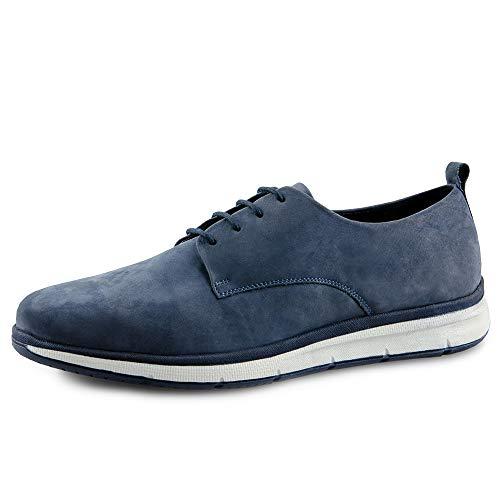 nubuk Low Shoes 00642 Marc Paolo Blue da Grey Sneakers uomo SZcBTqw
