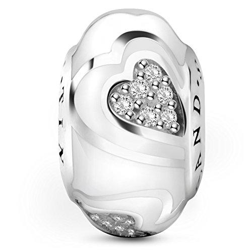 Crystal Open Heart Charm - 7