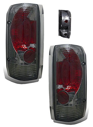 SPPC Smoke Euro Tail Lights Assembly Set For Ford F-Series/Bronco - (Pair) Driver Left and Passenger Right Side Replacement