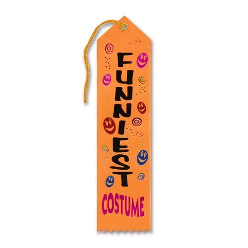 Beistle HAR505 Funniest Costume Award Ribbon, 2